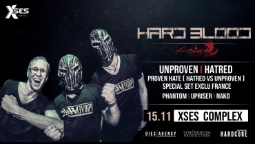 Hard Blood I Unproven – Hatred – Provenhate – Main Room
